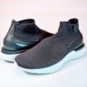 NEW Nike Rise React Flyknit Thunder Gray Sneakers